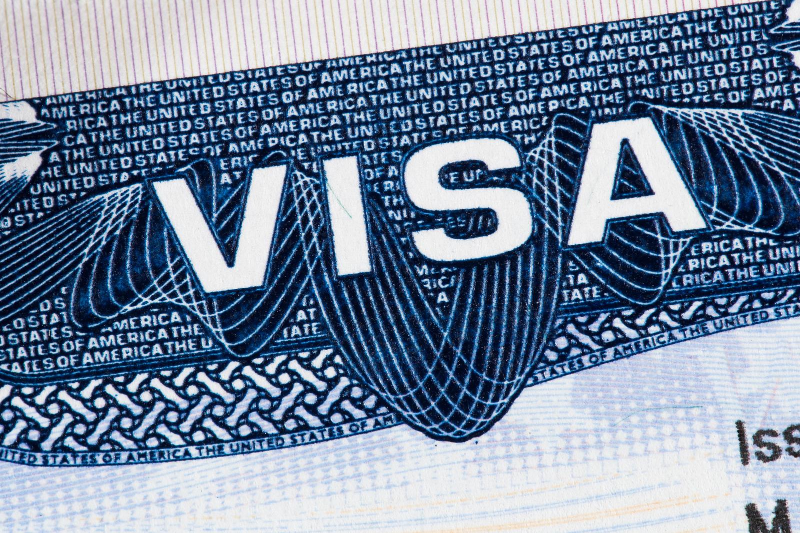 American Visa In Passport