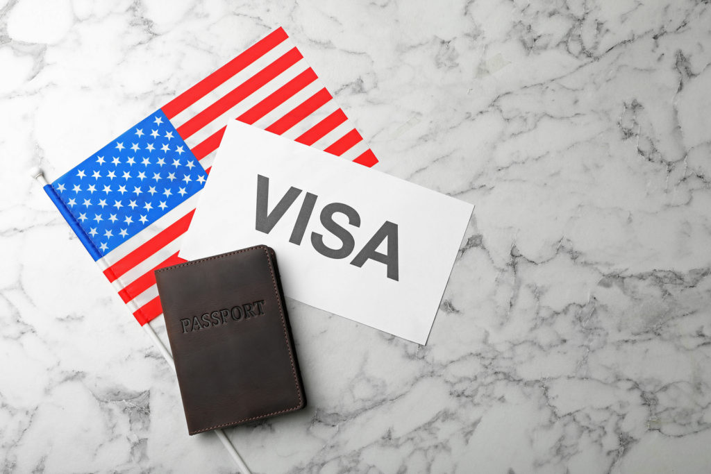 USA passport and VISA